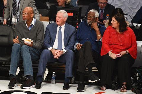 Kareem Abdul Jabbar, Jerry West and Bill Russell