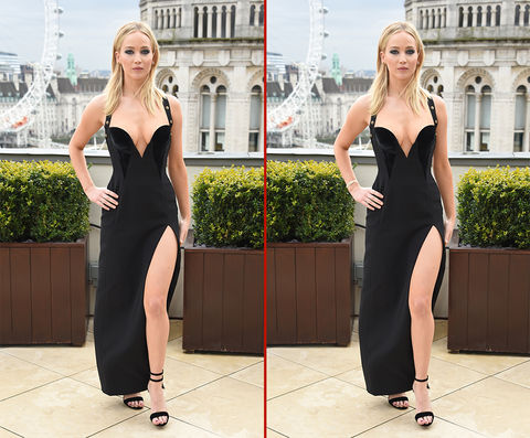 Can you spot the THREE differences in these Jennifer Lawrence photos?