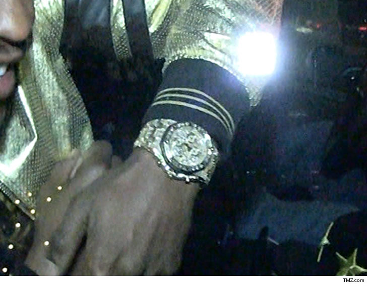 a has to watches mayweather of the floyd right mgm watch reveals his he jewel from part sport explains gift encrusted left collection