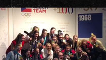 U.S. Women's Hockey Team Parties After Victory, Gold Medals and Beers!!