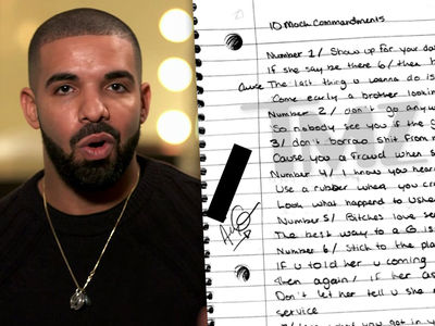 Drake's Handwritten Lyrics and Notes from 'Degrassi' Days For Sale For $54k