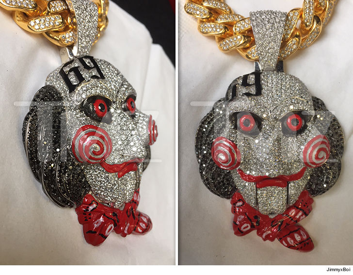 69 Chain Jigsaw: Tekashi69 Celebrates New Album With 'Saw'-Inspired Pendant