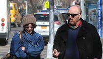 Louis C.K. Out for a Walk with Parker Posey
