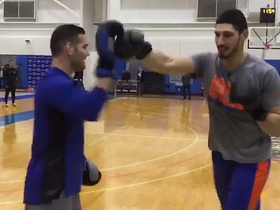 UFC's Chris Weidman Warns LeBron, I'm Training Knicks' Enes Kanter!