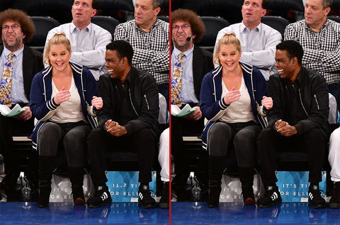 Can you spot the THREE differences in these Amy Schumer and Chris Rock photos?