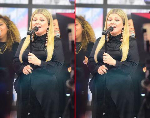 Can you spot the THREE differences in these Kelly Clarkson photos?
