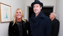 Brad Pitt Makes Surprise Oscar Party Appearance