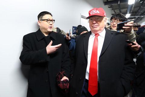Kim Jong-un and Trump impersonators