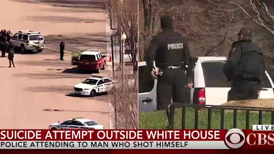 SHOTS FIRED NEAR WHITE HOUSECBS