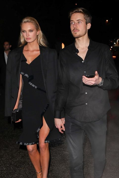 Romee Strijd and beau Laurens Van Leeuwen at the annual WME Talent party