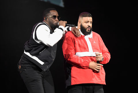 Sean 'Diddy' Combs and DJ Khaled perform during Demi Lovato 'Tell Me You Love Me' World Tour at The Forum on March 2, 2018 in Inglewood, California.
