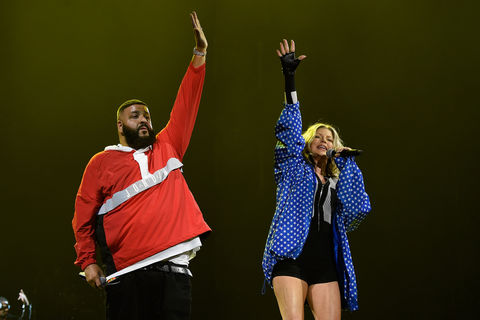 DJ Khaled and Fergie performs during 'Tell Me You Love Me' World Tour at The Forum on March 2, 2018 in Inglewood, California.