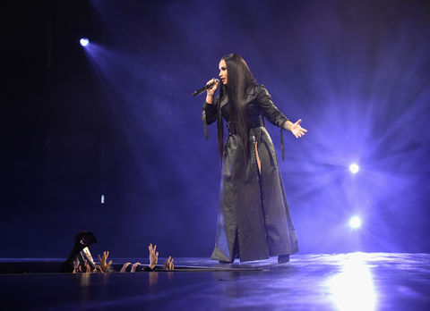 Demi Lovato performs during 'Tell Me You Love Me' World Tour at The Forum on March 2, 2018 in Inglewood, California.