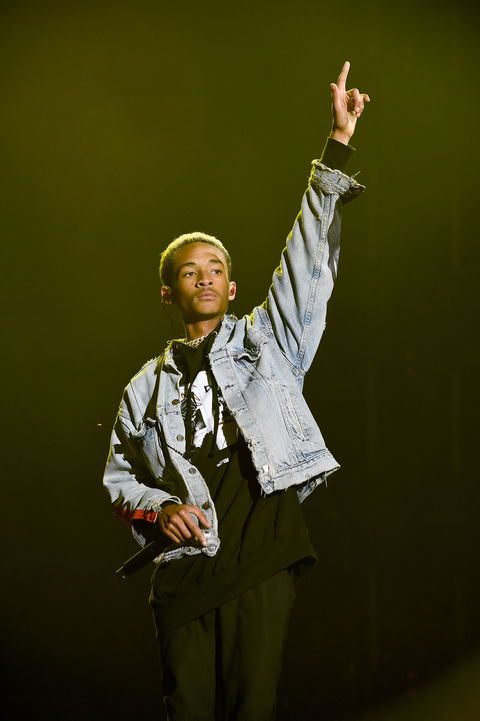 Jaden Smith performs during 'Tell Me You Love Me' World Tour at The Forum on March 2, 2018 in Inglewood, California.