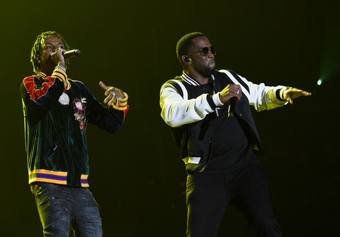 Rich the Kid and Sean 'Diddy' Combs perform during Demi Lovato 'Tell Me You Love Me' World Tour at The Forum on March 2, 2018 in Inglewood, California.