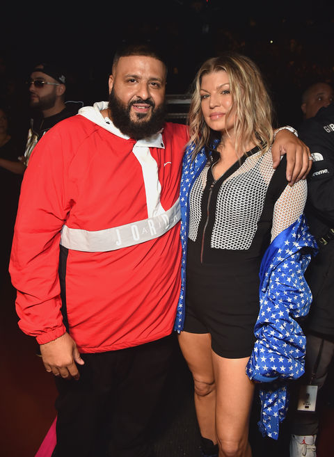 Dj Khaled and Fergie perform during Demi Lovato 'Tell Me You Love Me' World Tour at The Forum on March 2, 2018 in Inglewood, California.