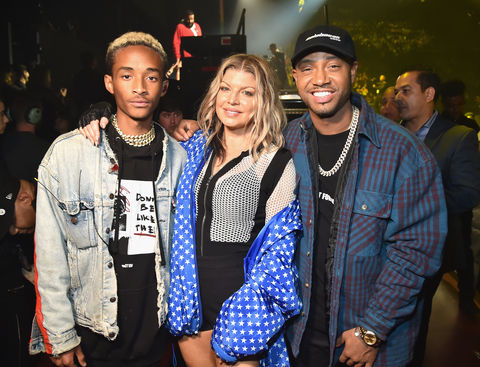 Jaden Smith, Fergie and Terrence J attend Demi Lovato 'Tell Me You Love Me' World Tour at The Forum on March 2, 2018 in Inglewood, California.