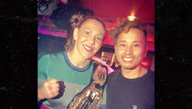 Cyborg Parties with Championship Belt After Destroying Kunitskaya at UFC 222