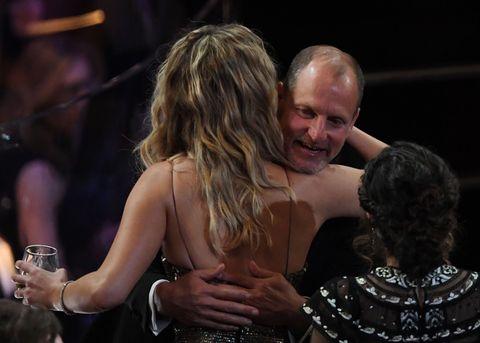 Jennifer Lawrence and Woody Harrelson