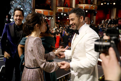 Sally Hawkins and Jimmy Kimmel