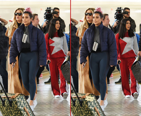 Can you spot the THREE differences in these Kim, Khloe, and Kourtney Kardashian photos?