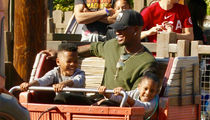 Ne-Yo Can't Stop Smiling on Family Trip to Disney's California Adventure