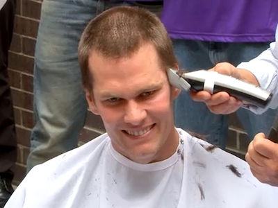 Tom Brady Shaves Head, Raises Millions for Cancer Research!