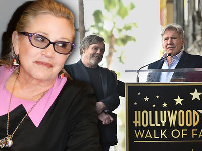 Harrison Ford Feels Carrie Fisher's Presence at Mark Hamill Walk of Fame Ceremony