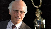 Larry David's Face Immortalized With $150,000 Chain
