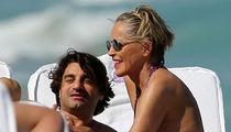 Sharon Stone Celebrates 60th Birthday with Miami Beach PDA