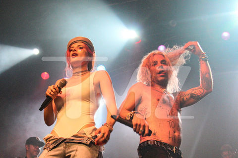 Bella Thorne and boyfriend Mod Sun performing in his hometown of Minneapolis, MN last night at the Music Hall Minneapolis.