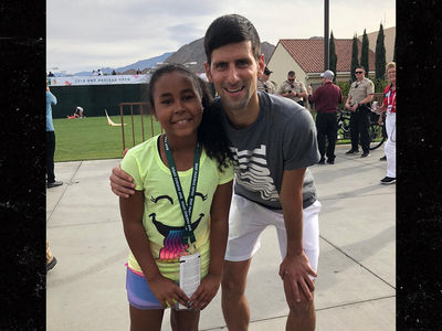 Mike Tyson's Daughter Plays Tennis with Novak Djokovic