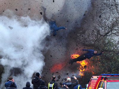 Explosion Blasts Stuntmen into the Air on Set of Gerard Butler Movie