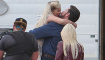 Tori Spelling and Dean McDermott Make Out on 'Sharknado' TV Spot Set