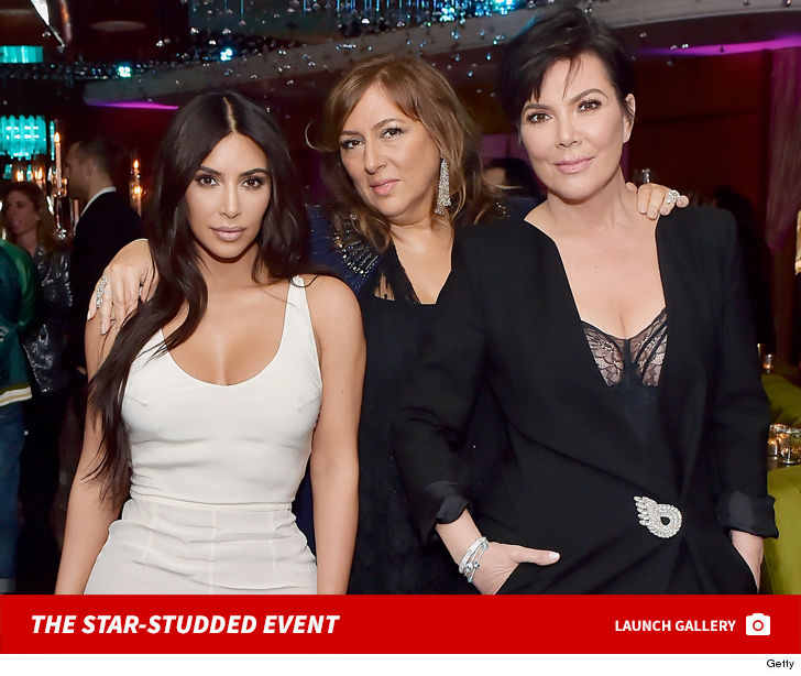 Kim Kardashian and Kris Jenner laid off the jewelry ... while attending  celebrity jeweler Lorraine Schwartz's soiree.