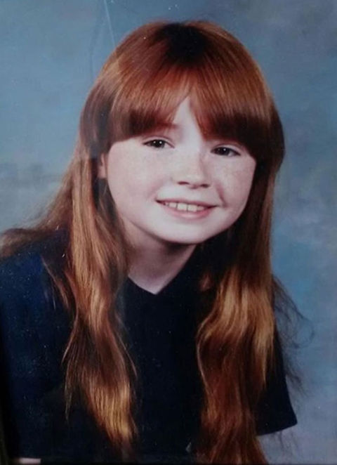Before this redheaded rugrat was acting in a popular mystery series, she was just another little lady rockin' bangs on picture day in the United Kingdom.