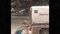 Drag Queen 'Elsa' Pushes Boston PD Truck Out of Nor'easter Snow