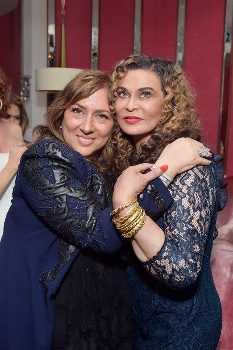 Tina Knowles and Lorraine Schwartz