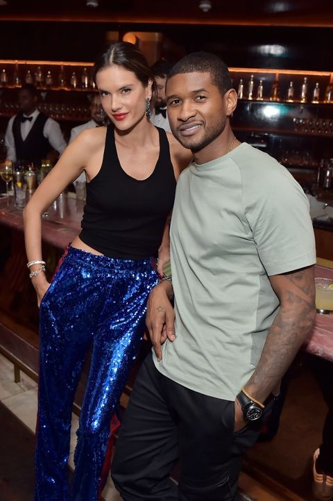 Usher and Alessandra Ambrosio