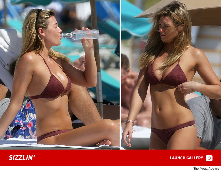 f4511c3147fee Samantha Hoopes got some tanning in at the beach and made sure to stay  hydrated ... and we ve learned her boyfriend might just have the best damn  job in the ...