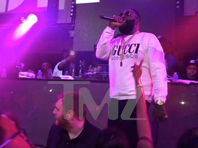 Rick Ross Says 'Free Meek Mill' in First Performance Since Hospitalization
