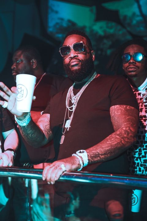 Rick Ross, Lil Wayne, Jason Derulo & Fresh seen at LIV in Miami.