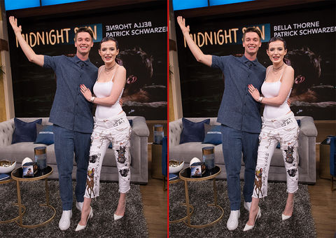 Can you spot the THREE differences in these Bella Thorne and Patrick Schwarzenegger photos?