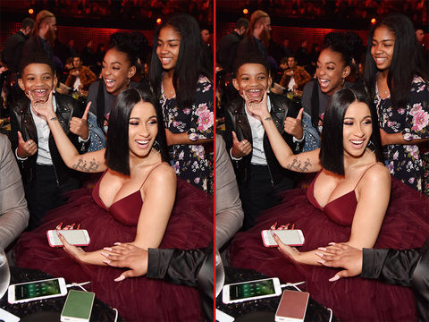 Can you spot the THREE differences in these Cardi B and Lonnie Chavis photos?