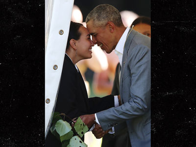 Barack Obama Nuzzles Noses with Maori Tribe Members