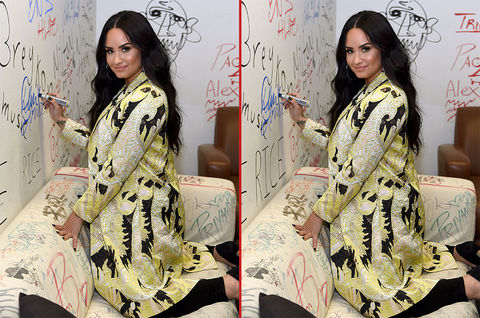 Can you spot the THREE differences in these Demi Lovato photos?