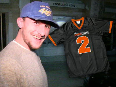 Johnny Manziel Selling Spring League Jerseys on Comeback SZN Site
