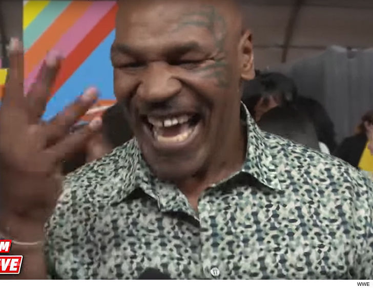 Make room, Ronda Rousey -- Mike Tyson says he's down to jump back in a WWE ring!!!