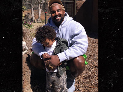 Kim Kardashian and Kanye West Take Their Kids to San Diego Zoo