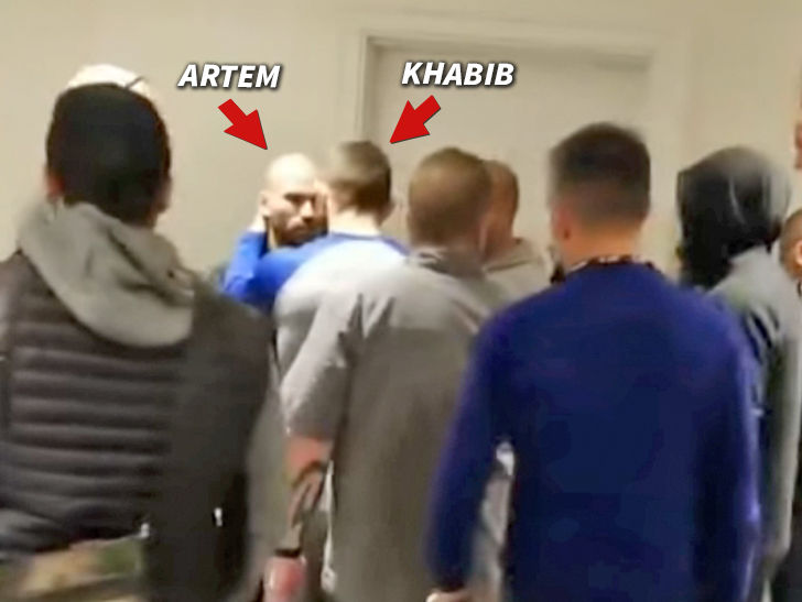 Ufcs Khabib Nurmagomedov Confronts Conor Mcgregors Bff In Heated